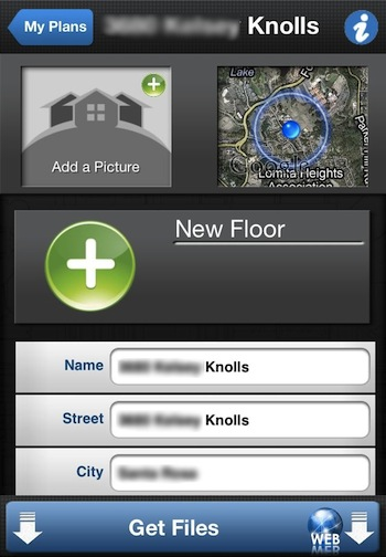 Floor plans and dimensions of a room using just your Room dimensions app