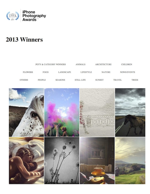 7th Annual iPhone Photography Awards 2013