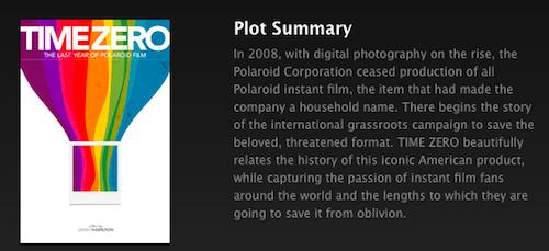 time zero polaroid